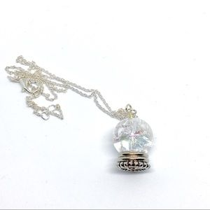 Gypsy Fortune Teller Crystal Ball Necklace